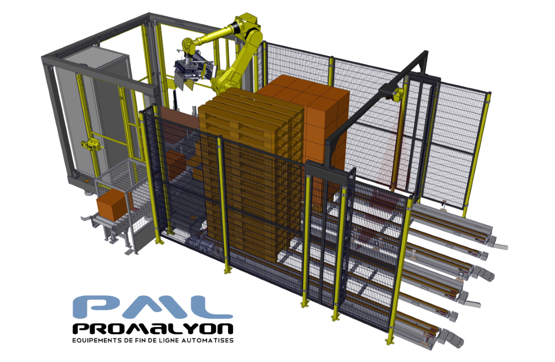 PALBOX®, the compact and user-friendly palletizing robot