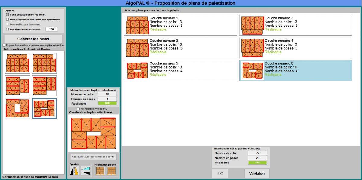 ALGOPAL® : La simplification des plans de palettisation