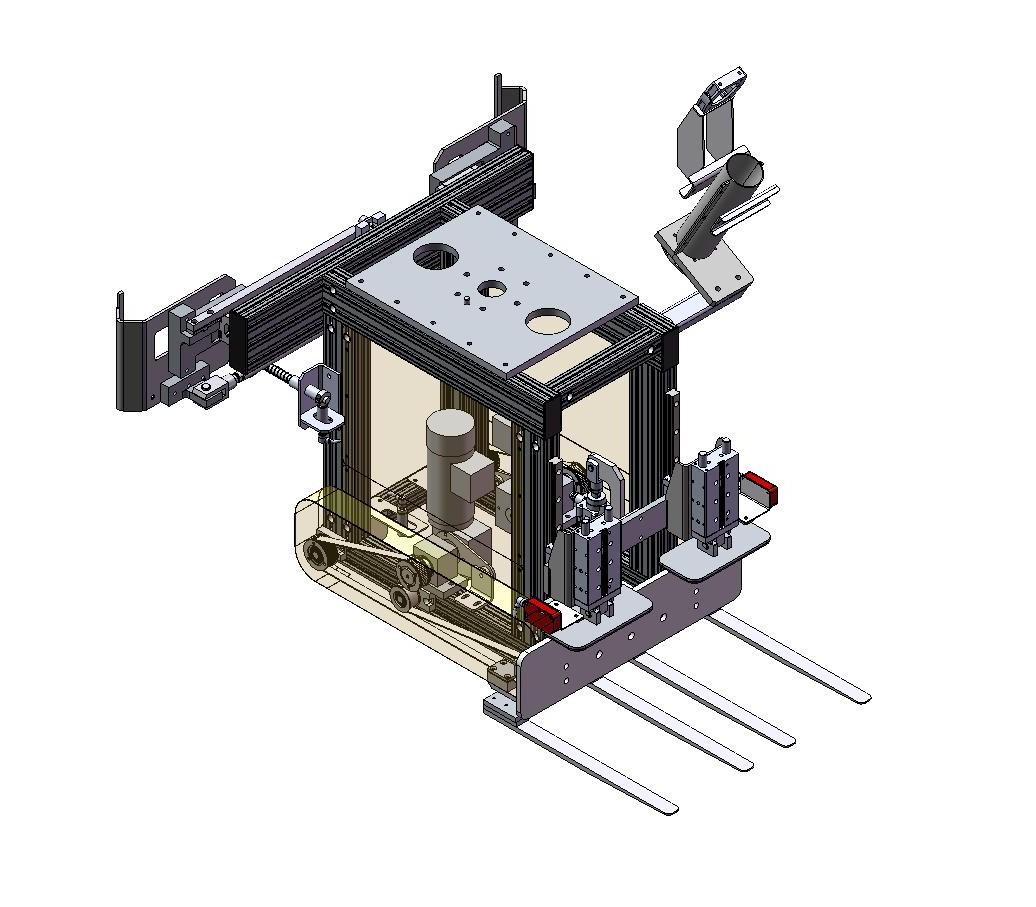 préhenseur à fourche pour robot palettiseur